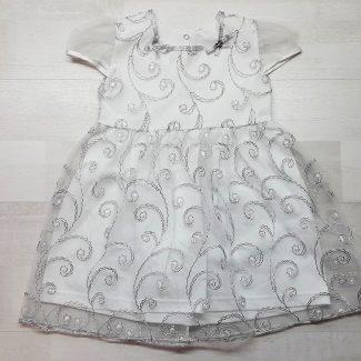 Нарядное платье с серебром