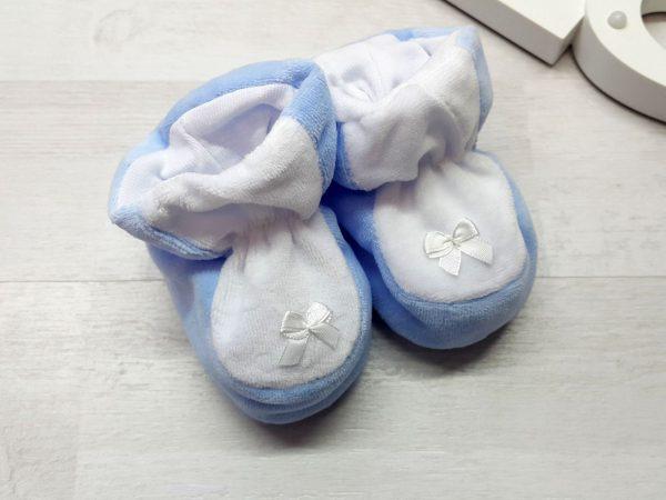 Пинетки для малышей голубые
