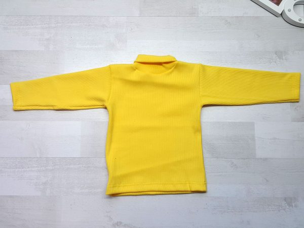 Водолазка детская желтая