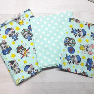 Детский постельный комплект люкс (еноты)