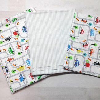 Детский постельный комплект люкс (машинки)