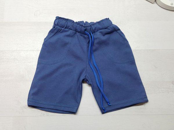Бриджи с карманами синие