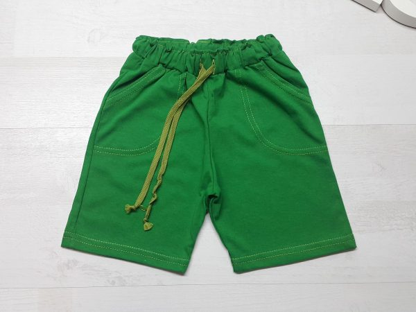 Бриджи с карманами зеленые