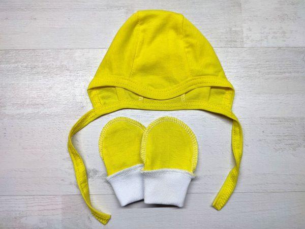 Чепчик и царапки тонкие желтые