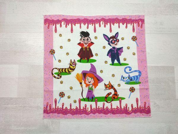 Детский носовой платок розовый
