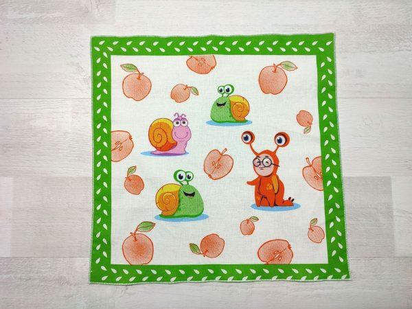 Детский носовой платок зеленый