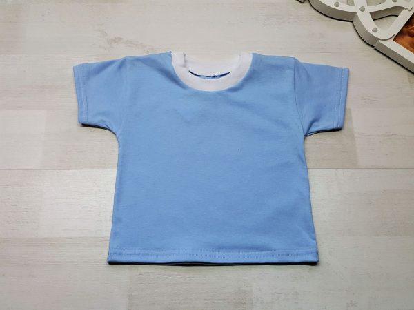 Футболка детская голубая