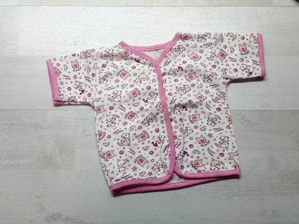 Кофта с коротким рукавом розовая