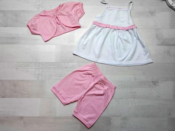 Комплект сарафан, болеро, штанишки розовый