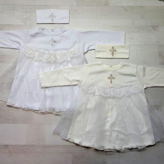 Платье крестильное с повязкой