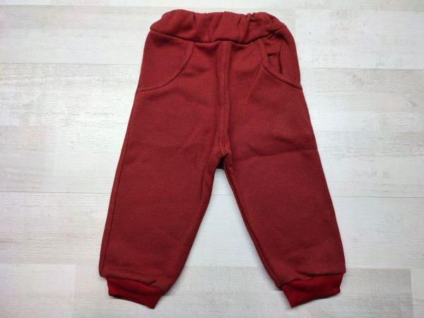 Штаны утеплённые детские красные