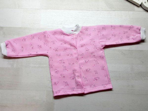 Кофта с длинным рукавом розовая