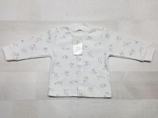 Кофта 1-01 длинный рукав бежевые зайчики