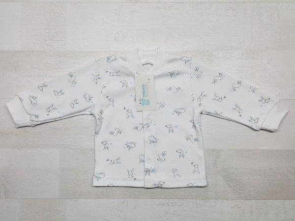 Кофта 1-01 длинный рукав голубые зайчики