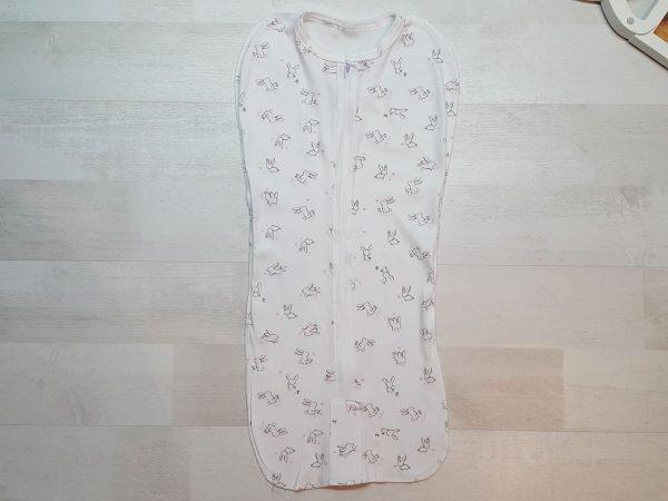 Спальный мешок на молнии розовые зайчики