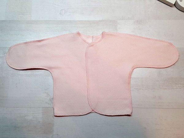 Распашонка тёплая с рукавом розовая с пшеном
