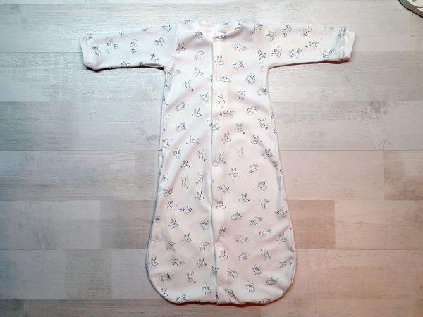 Спальный мешок на кнопках голубые зайчики