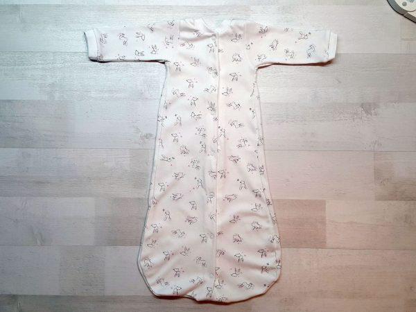 Спальный мешок на кнопках розовые зайчики