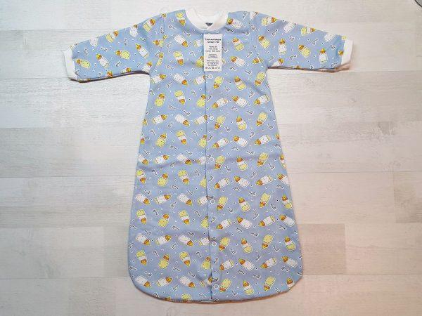 Спальный мешок на кнопках тёплый голубой