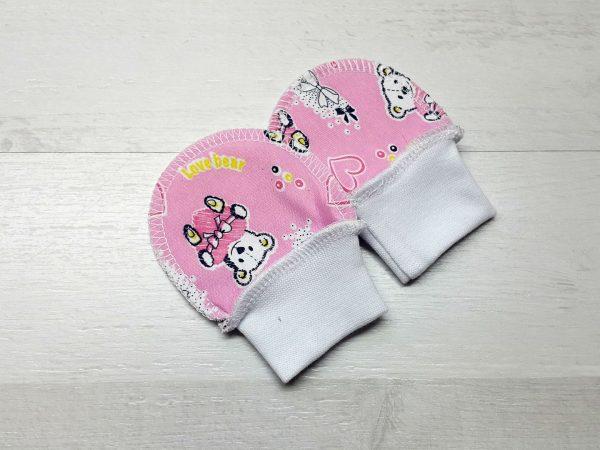 Царапки на манжете футер мишки розовые