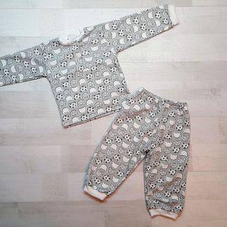 Детская пижама на кнопках (интерлок) серая