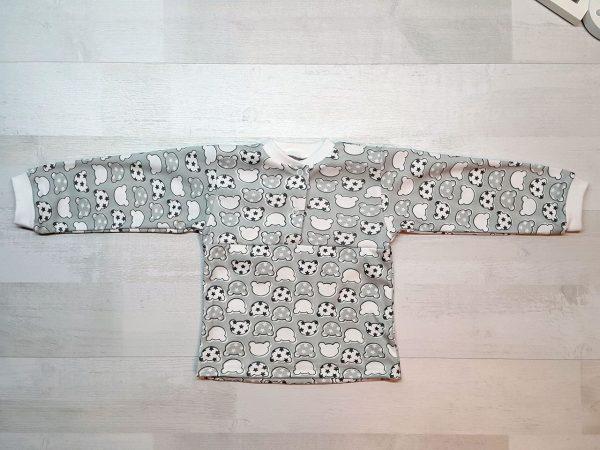 Детская пижама на кнопках (интерлок) серая кофта
