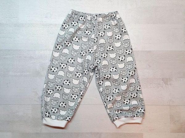 Детская пижама на кнопках (интерлок) серые штанишки
