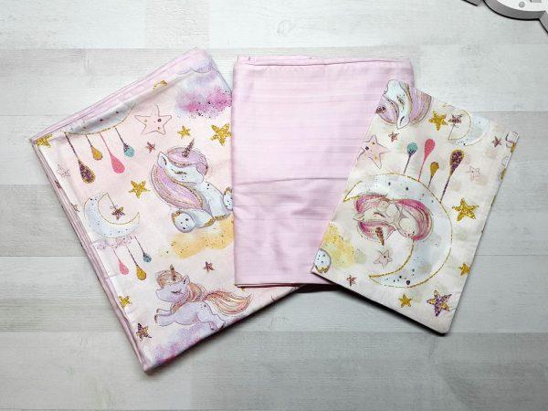 Детский постельный комплект люкс (единороги)