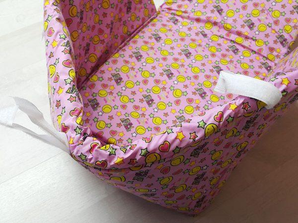 Чехол на санки открытый розовый 2