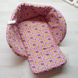 Чехол на санки открытый розовый