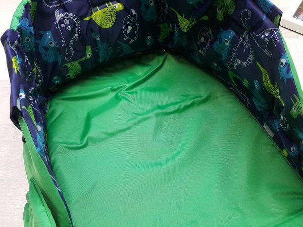 Чехол на санки закрытый зелёный 2