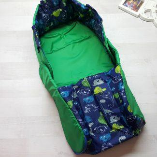 Чехол на санки закрытый зелёный