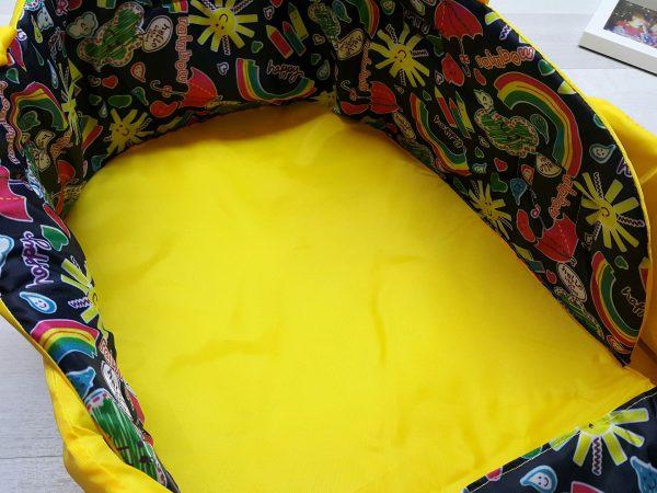 Чехол на санки закрытый жёлтый 2