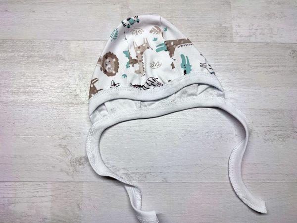 Чепчик интерлок для новорождённых джунгли