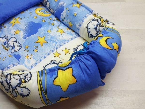 Кокон-гнёздышко с подушкой голубой 2