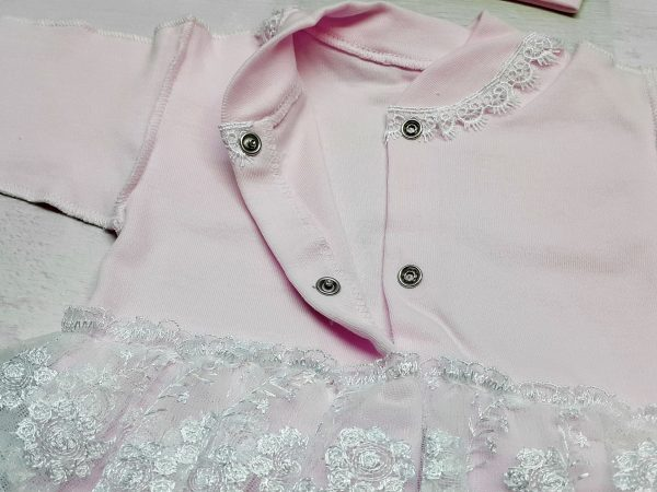 Комбинезон «Балеринка» c шапочкой розовый 3