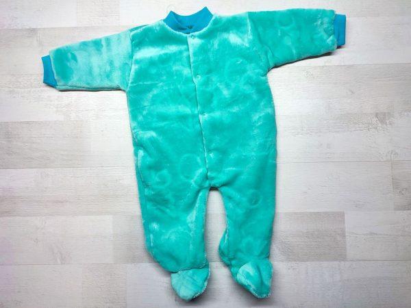 Комбинезон теплый детский зеленый