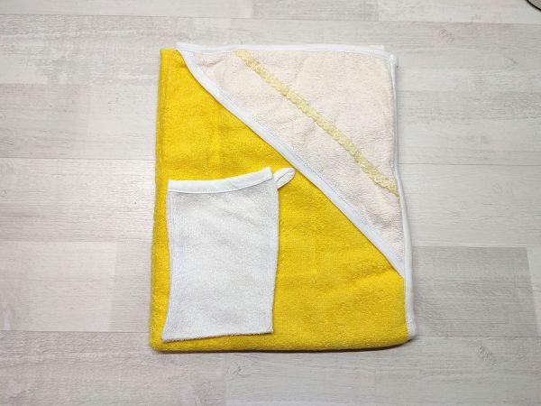 Комплект для купания новорожденных желтый