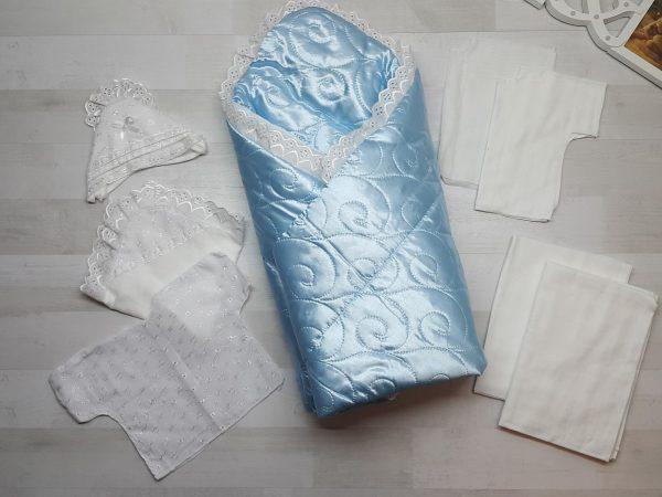 Комплект на выписку голубой (10 предметов)