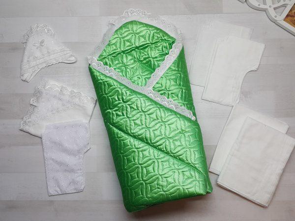 Комплект на выписку зелёный (10 предметов)
