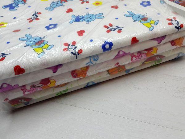 Комплект пелёнок фланель (5 штук) в упаковке