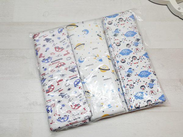 Комплект пелёнок футер (3 штуки) в упаковке 2