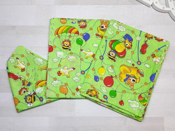 Комплект постельного белья зелёный с шариками