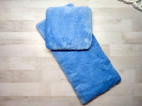 Комплект в коляску тёплый голубой