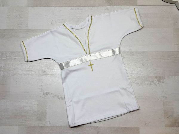 Крестильная рубашка белая
