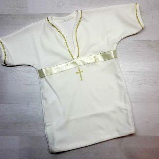 Крестильная рубашка бежевая