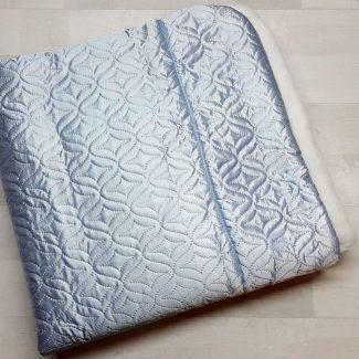 Одеяло-конверт с мехом голубое