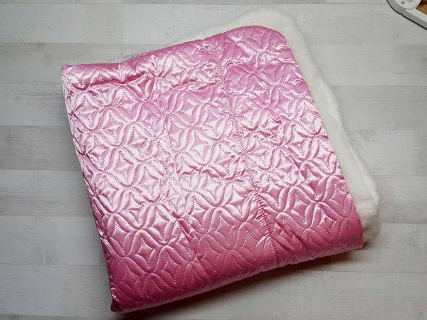 Одеяло-конверт с мехом розовое