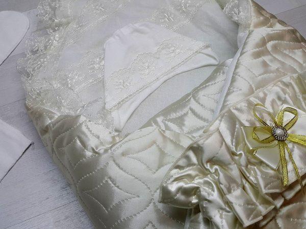 Одеяло с комплектом «Стежка» бежевый 3
