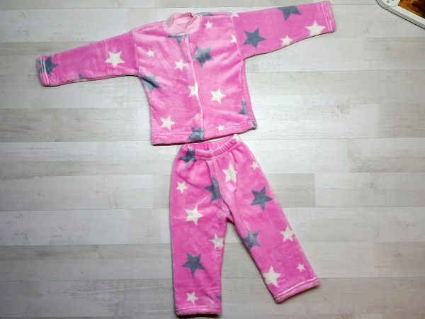 Пижама евромахра розовая со звездами